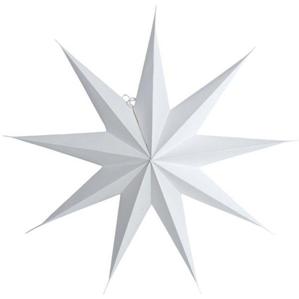 Stern aus Papier 9 Points 60 cm - weiss