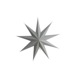 Stern aus Papier 9 Points 60 cm - grau