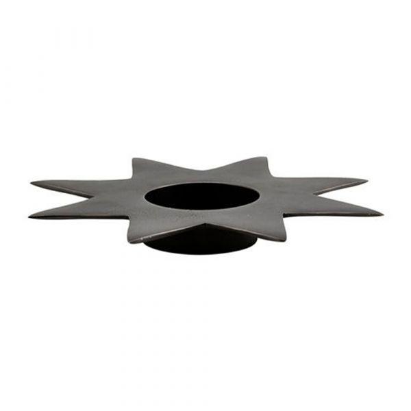 Kerzenhalter Star - grau groß