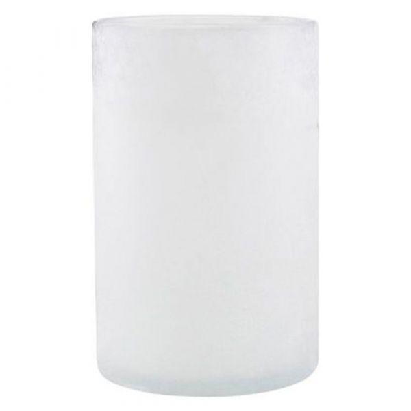 Teelichthalter Mist - weiß groß
