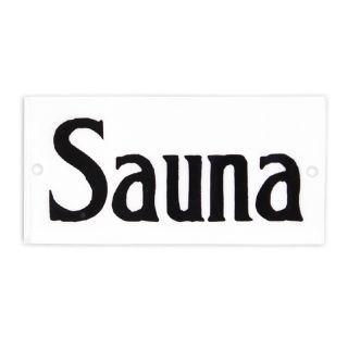 Emaille Schild - Sauna