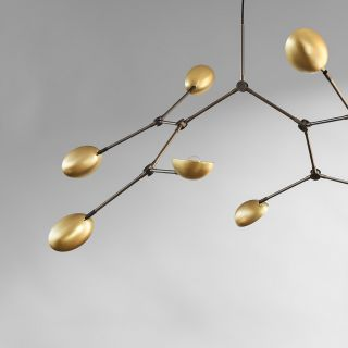 Drop Chandelier Brass