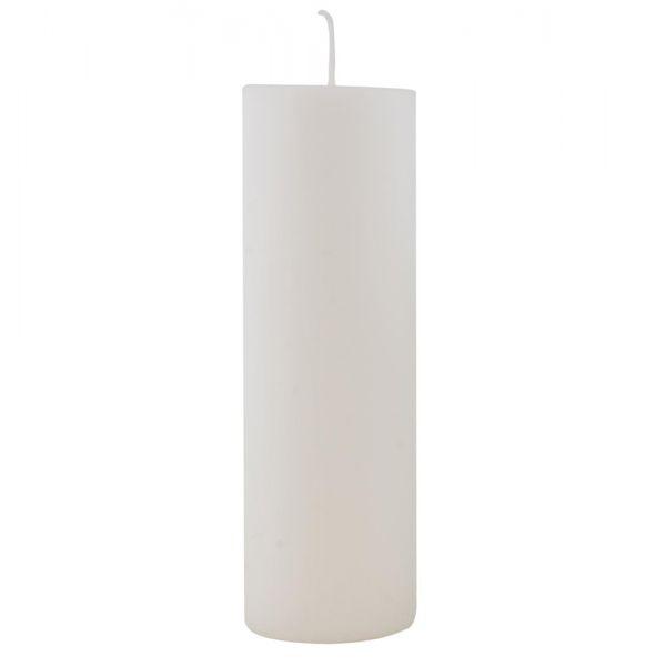 Stumpenkerze - weiß 20 cm