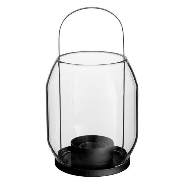 Laterne/ Windlicht für Teelichter - schwarz