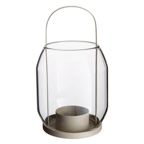 Laterne/ Windlicht für Teelichter - beige