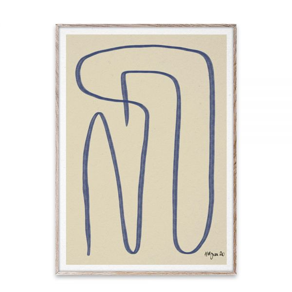 Poster - Different Ways - Blue - 50x70 cm