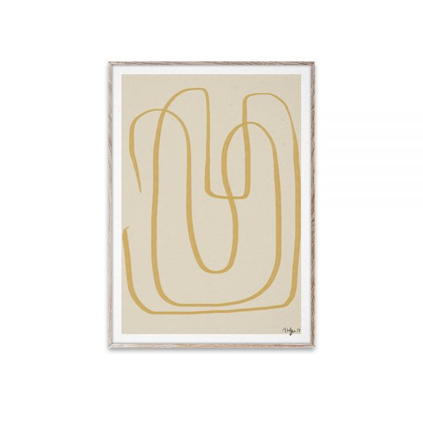 Poster - Different Ways I - Yellow - 30x40 cm
