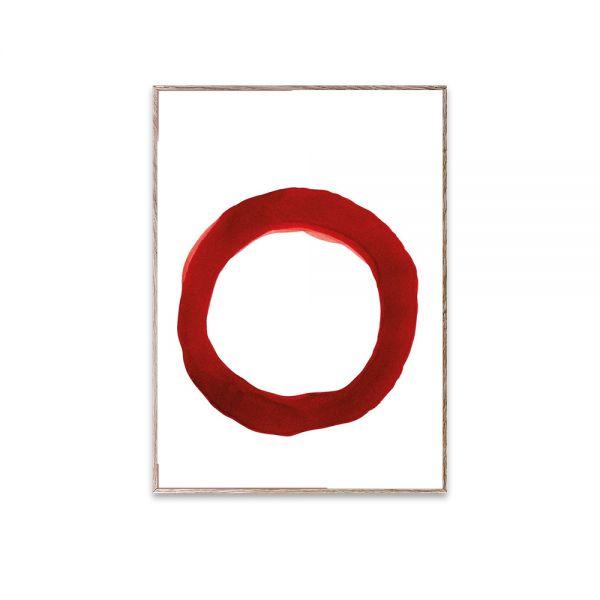 Poster - Ensō - Red IV - 30x40 cm