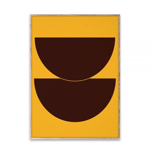 Poster - Half Circles II - Yellow - 50x70 cm