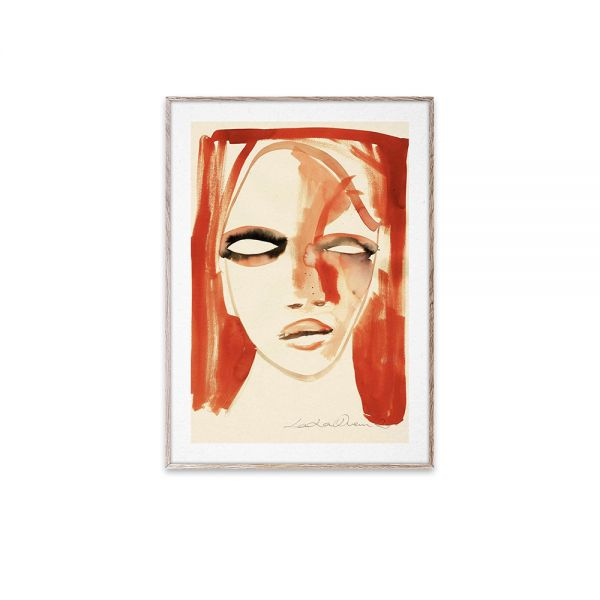 Poster - Red Portrait - 30x40 cm