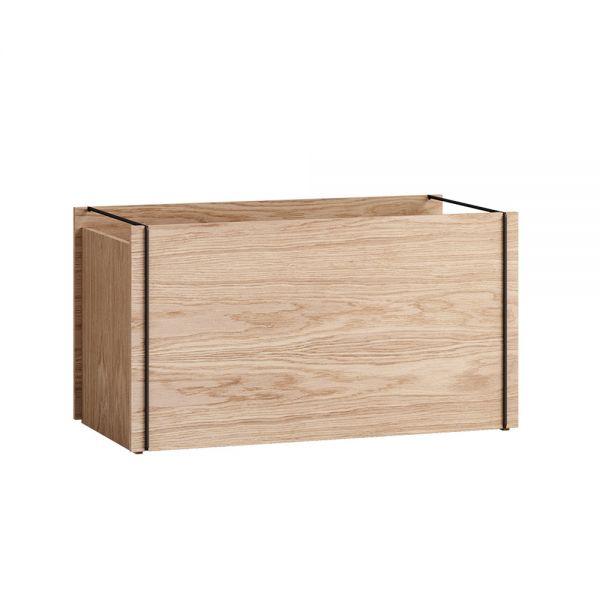 Aufbewahrungsbox aus Holz - oak/black