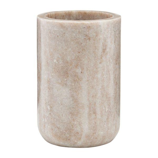 Becher aus Marmor - beige