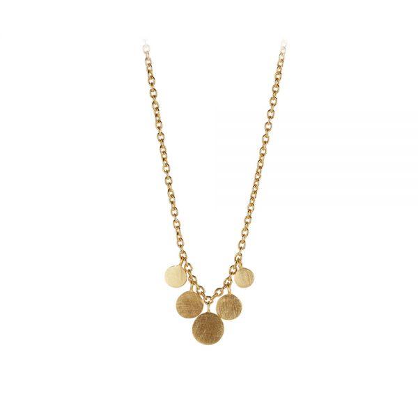 Halskette - Mini Coin - gold 40-48 cm