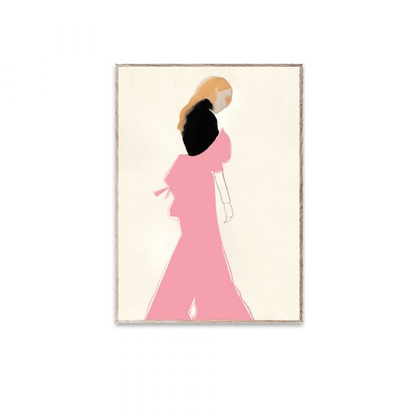 Poster - Pink Dress - 30 x 40 cm
