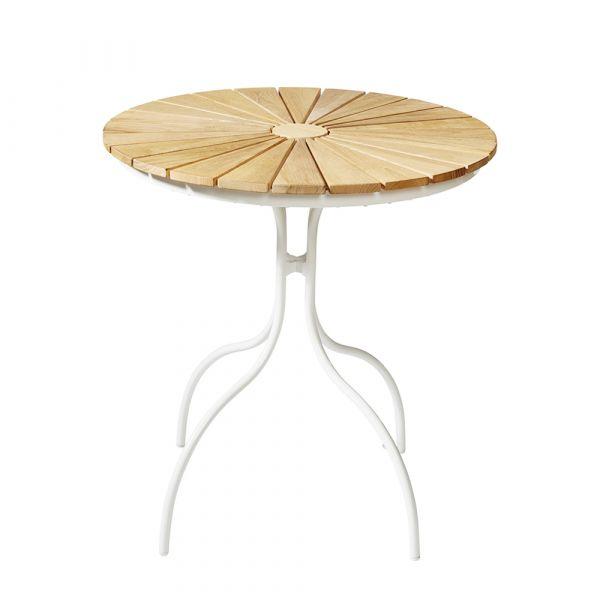 Gartentisch Ellen - weiß rund Ø 80 cm