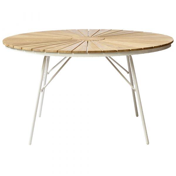 Gartentisch Ellen - weiß rund Ø 130 cm