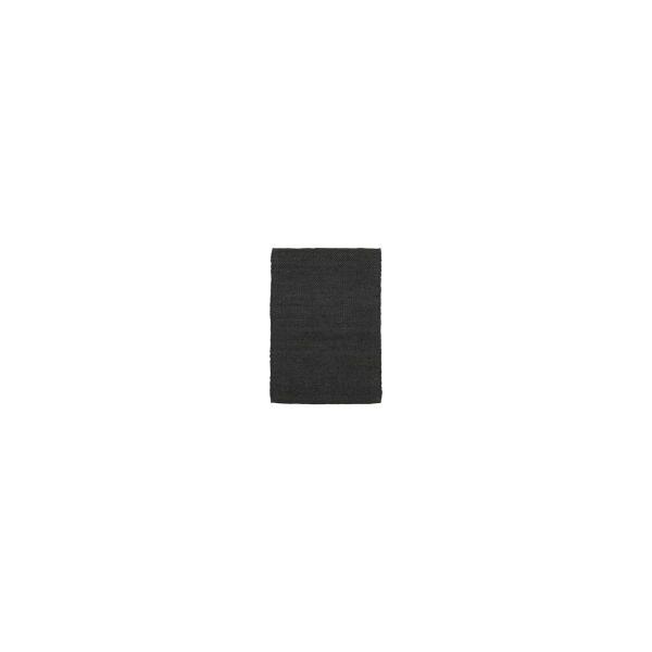 Teppich Hempi - schwarz 90 x 60 cm