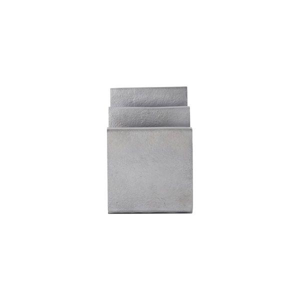 Briefständer Mono - brushed silver