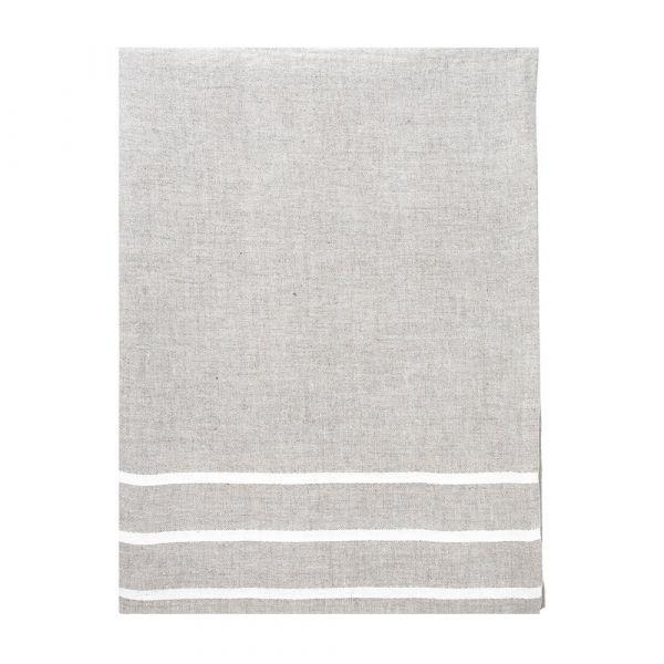 Strandtuch aus Leinen USVA - linen/white