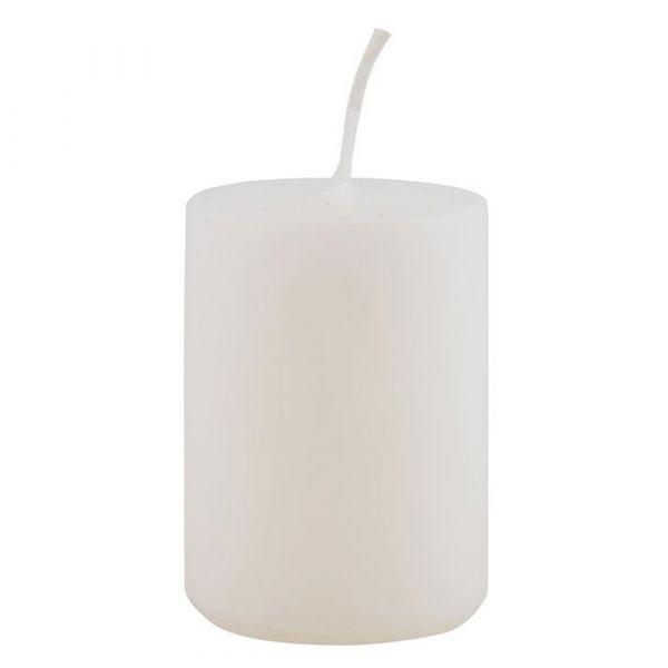Stumpenkerze - weiß 6 cm