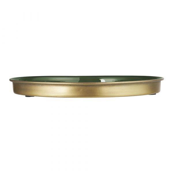 Kerzentablett - rund olivengrün Ø 26 cm