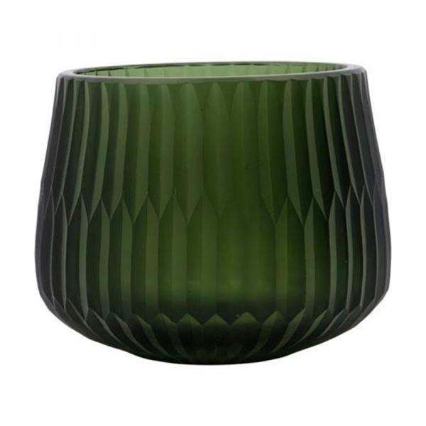 Teelichthalter Crown - grün
