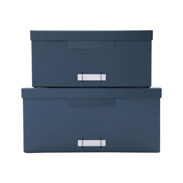 Boxen mit Deckel File - petrol mittel 2er Set
