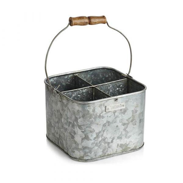 Eimer aus Metall - quadratisch