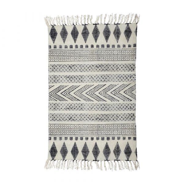 Teppich Block - grau schwarz 90 x 200 cm