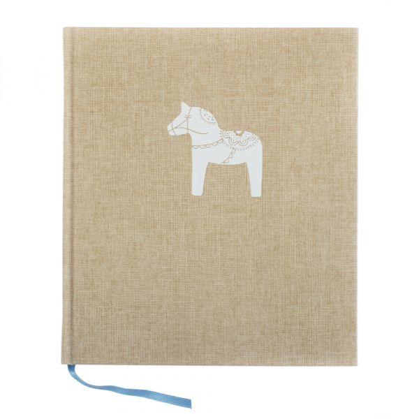 Notizbuch Dalapferd - sand 21 x 24 cm