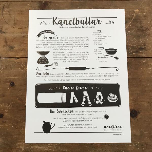 poster kanelbullar rezept fuer schwedische zimtschnecken