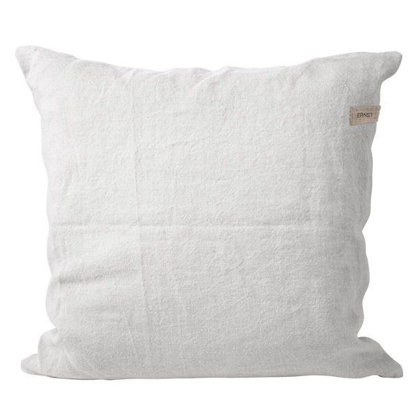 Kissenbezug aus Leinen inkl. Füllung - weiß 50 x 50 cm