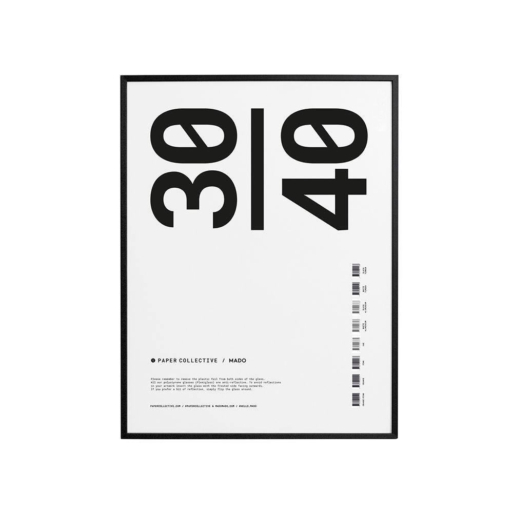 Bilderrahmen - Frame black timber - 30x40 cm