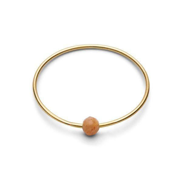 Birthstone Ring - June PFIRSICH MONDSTEIN Gr. 2