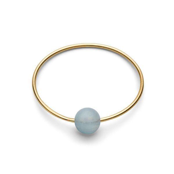 Birthstone Ring - March AQUAMARIN Gr. 2