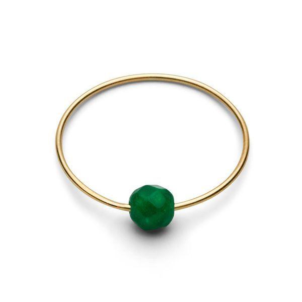Birthstone Ring - May EMERALD Gr. 2