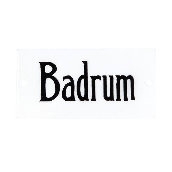Emaille Schild - Badrum