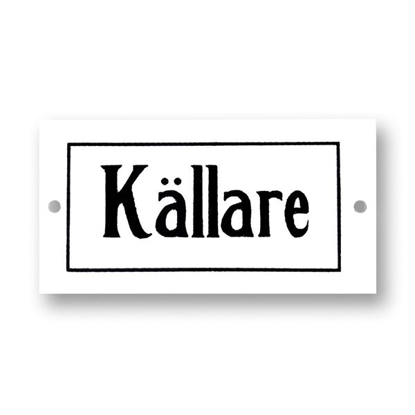 Emaille Schild - Källare