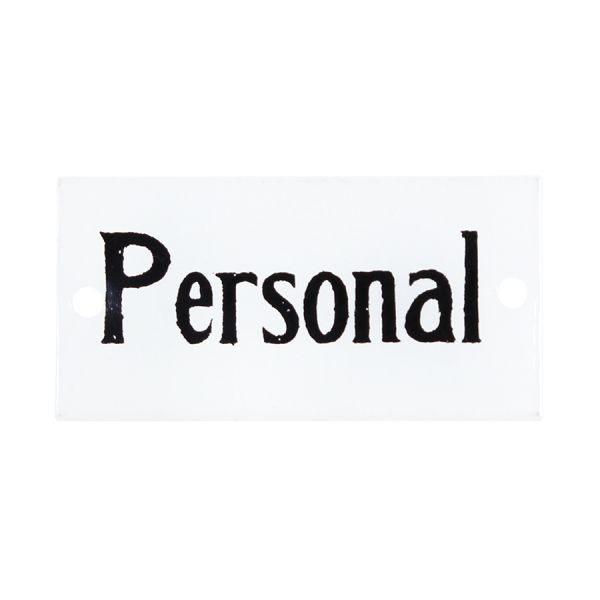 Emaille Schild - Personal