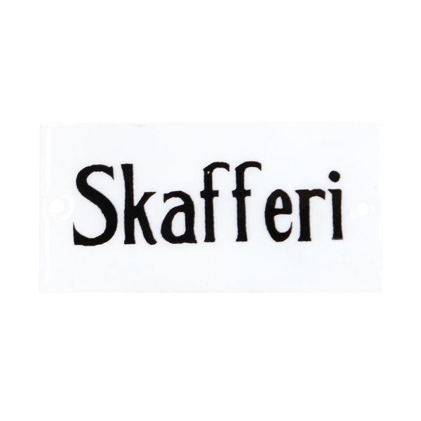 Emaille Schild - Skafferi