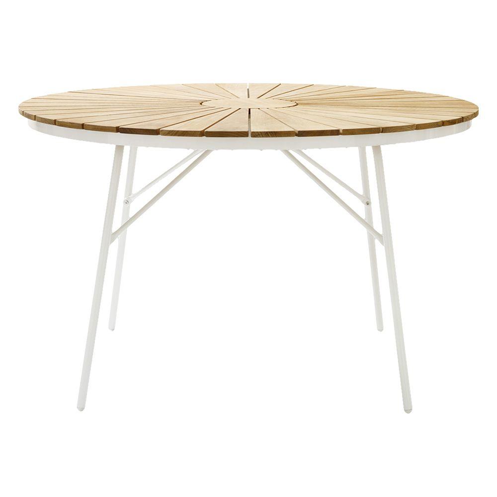 Gartentisch Ellen - weiß rund Ø 110 cm