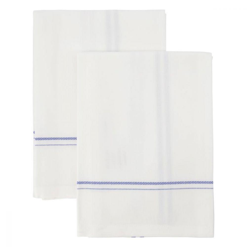 Geschirrtuch Amow - XL weiß/blau 2er Set