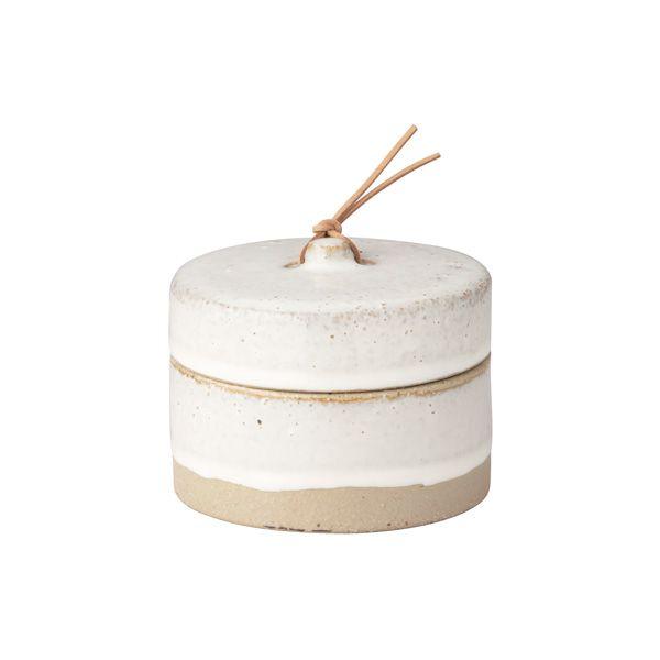 Keramikdose mit Deckel - groß