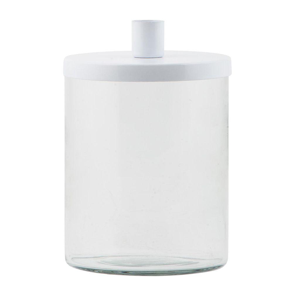 Kerzenhalter für Stabkerzen - weiß 16,5 cm
