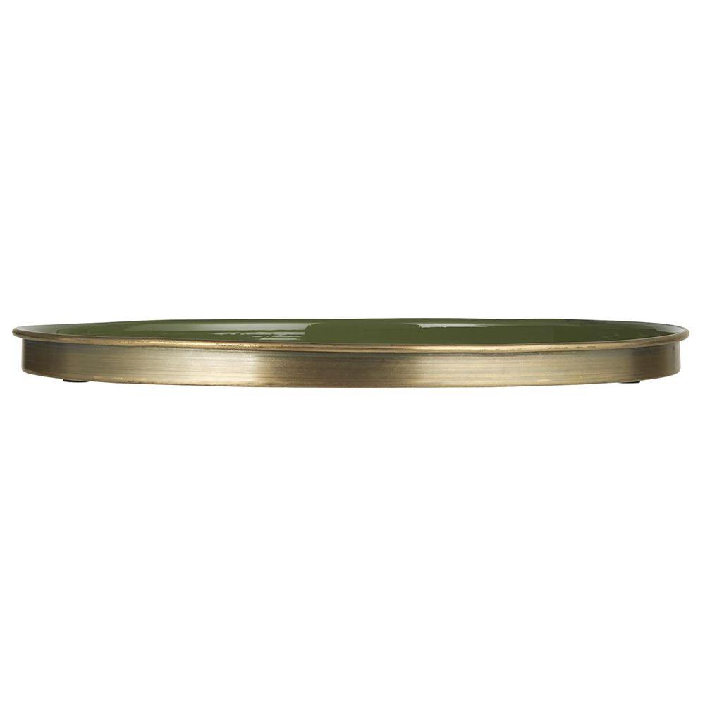 Kerzentablett - rund olivengrün Ø 41,5 cm