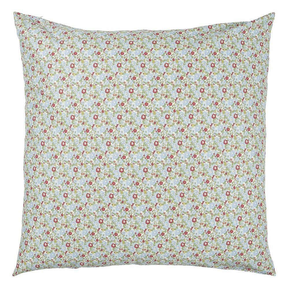 Kissenbezug - Blumenmuster blau/grün 60 x 60 cm