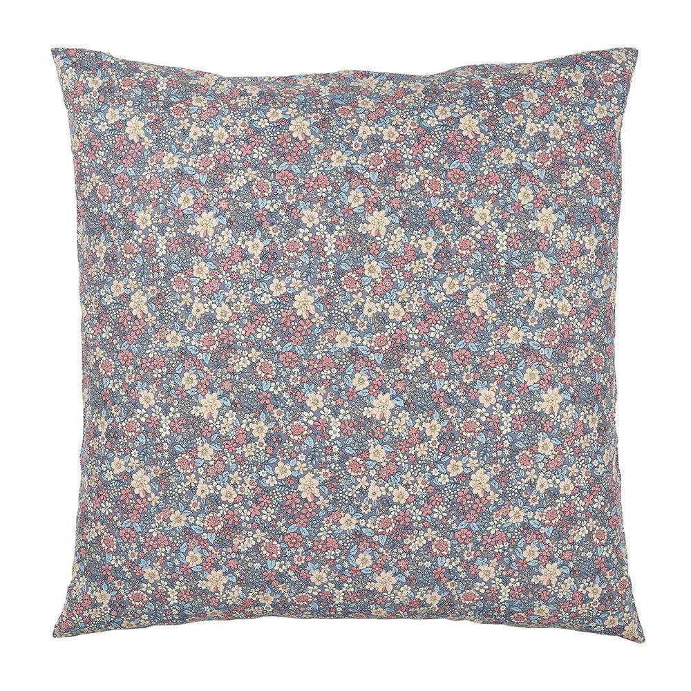Kissenbezug - lavendel mit Blumen  60 x 60 cm