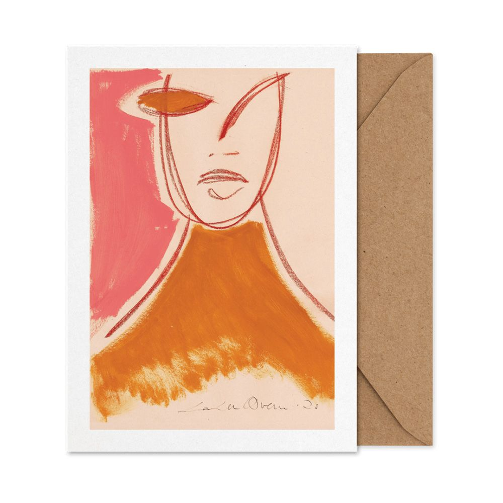 Klappkarte - Pink Portrait