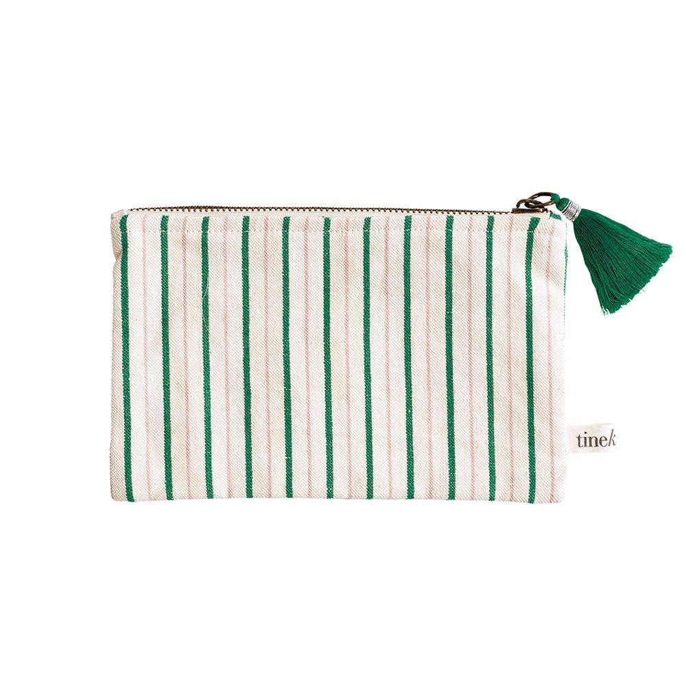 Kosmetiktasche Staystripe - green