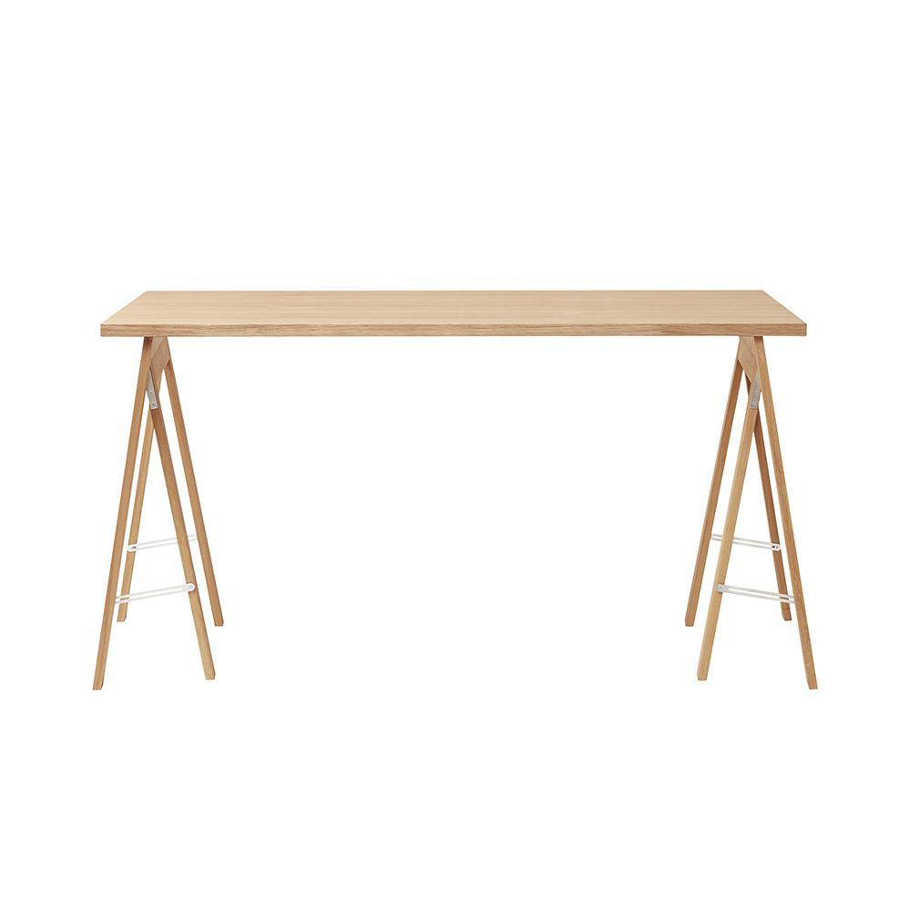 Linear Tischplatte - Eiche weiß geölt 125 x 68 cm